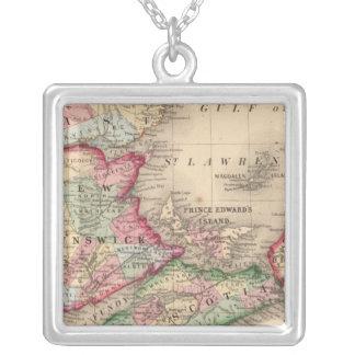 Nueva Escocia, Nuevo Brunswick, mapa de Mitchell Colgante Cuadrado