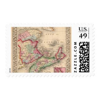 Nueva Escocia, Nuevo Brunswick, mapa de Mitchell Envio