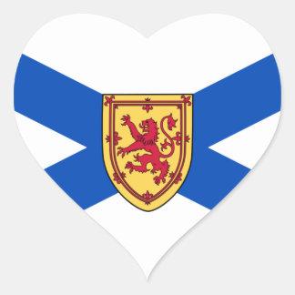 Nueva Escocia Pegatinas De Corazon Personalizadas