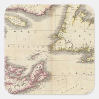 Nueva Escocia, Terranova Calcomanías Cuadradas Personalizadas