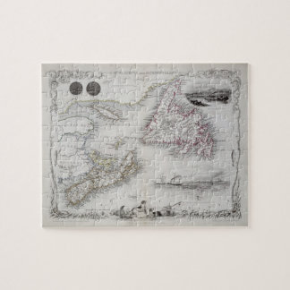 Nueva Escocia y Terranova, de una serie de Wor Puzzle