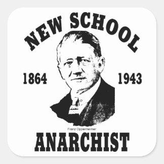 Nueva escuela -- Franz Oppenheimer Pegatina Cuadrada
