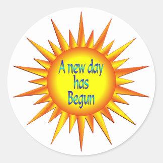 Nueva esperanza del día pegatinas redondas