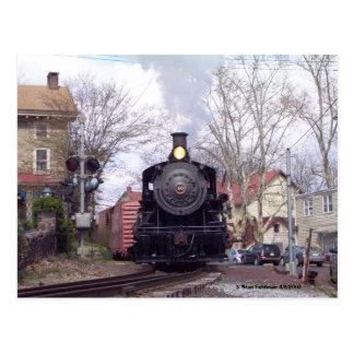 Nueva esperanza y motor de vapor de Ivyland # 40 Tarjeta Postal