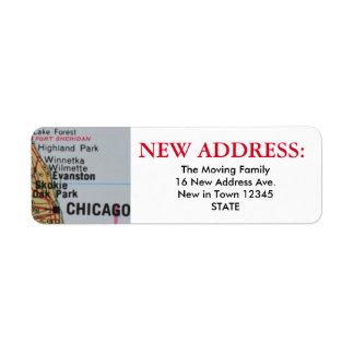 Nueva etiqueta de dirección de Chicago
