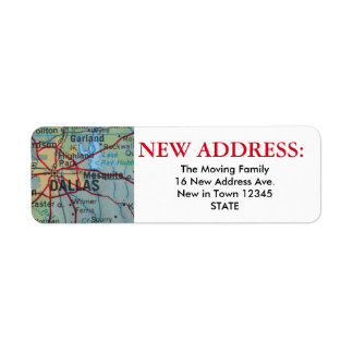 Nueva etiqueta de dirección de Dallas