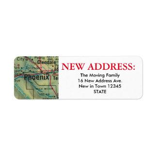 Nueva etiqueta de dirección de Phoenix