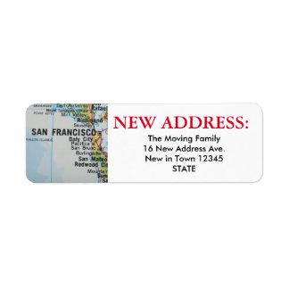 Nueva etiqueta de dirección de San Francisco
