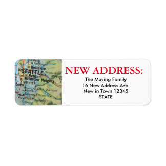 Nueva etiqueta de dirección de Seattle