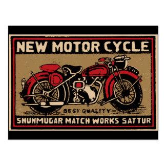 Nueva etiqueta del partido de seguridad de la moto postal