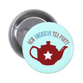 Nueva fiesta del té americana pin redondo 5 cm