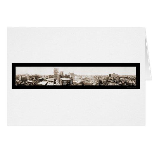 Nueva foto 1913 del horizonte de Dallas TX Tarjeta De Felicitación
