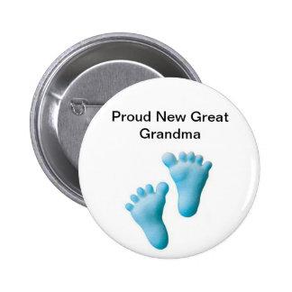 Nueva gran abuela orgullosa pin redondo de 2 pulgadas