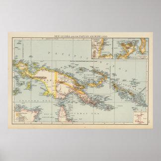 Nueva Guinea, archipiélago del Papuan Póster