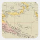 Nueva Guinea y Solomon Island Pegatina Cuadrada