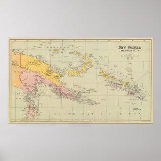 Nueva Guinea y Solomon Island Póster