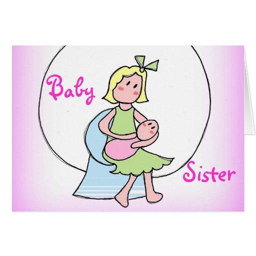 Nueva hermana del bebé tarjeton