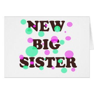 Nueva hermana grande felicitaciones