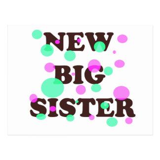Nueva hermana grande postal