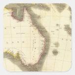 Nueva Holanda, islas asiáticas Calcomanía Cuadrada
