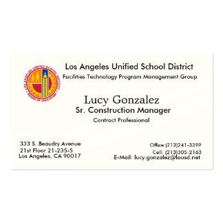 Nueva imagen, Lucy Gonzalez, Los Ángeles, CA 90017 Tarjeta De Negocio
