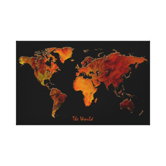 nueva impresión del arte del mapa del mundo del Vi Impresión En Lona Estirada