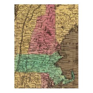 Nueva Inglaterra 4 Tarjetas Postales