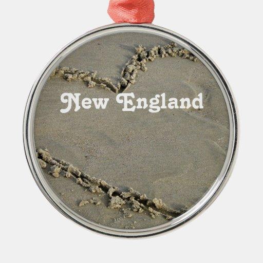 Nueva Inglaterra Adorno Navideño Redondo De Metal