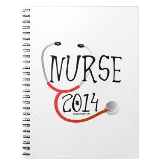 Nueva invitación 2014 de la graduación de la enfer cuaderno