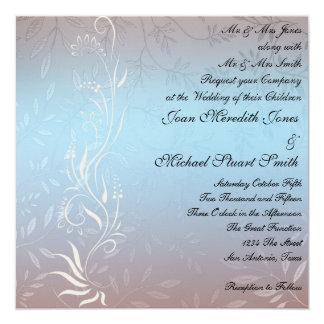Nueva invitación azul del boda