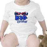 Nueva invitación de hermano mayor del bebé - trajes de bebé