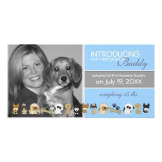 Nueva invitación de la adopción del perro tarjetas fotograficas
