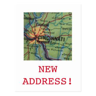 Nueva invitación de la dirección de Cincinatti Tarjetas Postales