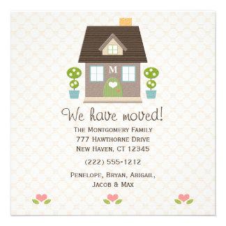 Nueva invitación de la dirección de la casa con mo