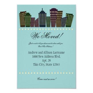 Nueva invitación de la dirección de la ciudad invitación 8,9 x 12,7 cm