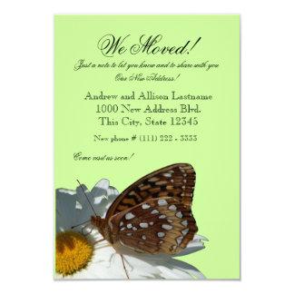 Nueva invitación de la dirección de la mariposa y