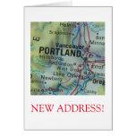 Nueva invitación de la dirección de Portland Tarjeta Pequeña