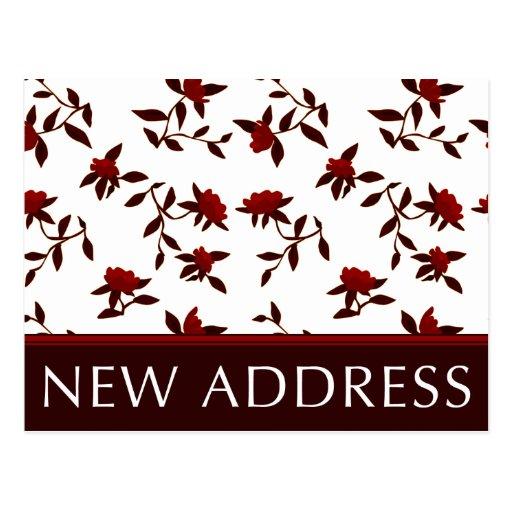 nueva invitación de la dirección: flores del tarjetas postales