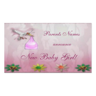 Nueva invitación de la niña tarjetas de visita