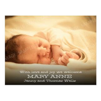 Nueva invitación del bebé (texto, horizontales bla postales