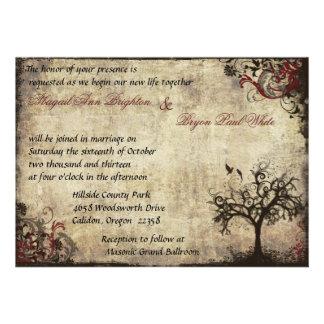 Nueva invitación del boda de la vida del vintage e