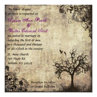 Nueva invitación del boda del vintage de la vida invitación 13,3 cm x 13,3cm