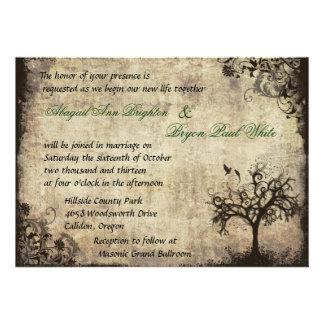 Nueva invitación del boda del vintage de la vida