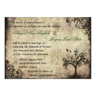 Nueva invitación del boda del vintage de la vida invitación 12,7 x 17,8 cm