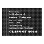 Nueva invitación del graduado 2013 NEGRA y GRIS
