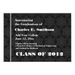 Nueva invitación del graduado de la textura blanco