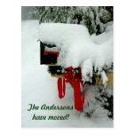 Nueva invitación del invierno de la dirección de postal