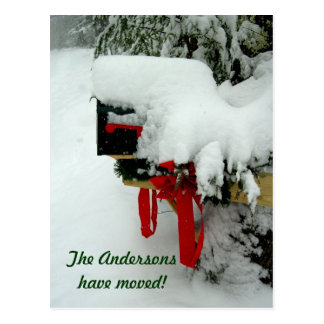 Nueva invitación del invierno de la dirección de tarjetas postales
