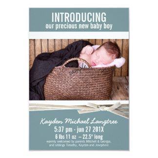 Nueva invitación del nacimiento del bebé de la