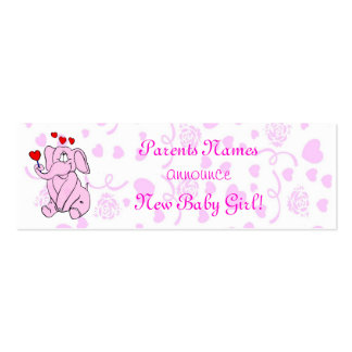 Nueva invitación dulce de la niña tarjetas de visita mini
